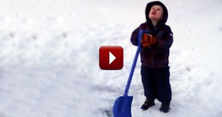After 10 Minutes of Shoveling Snow, This Little Boy Had Enough - So Funny - Funny Video
