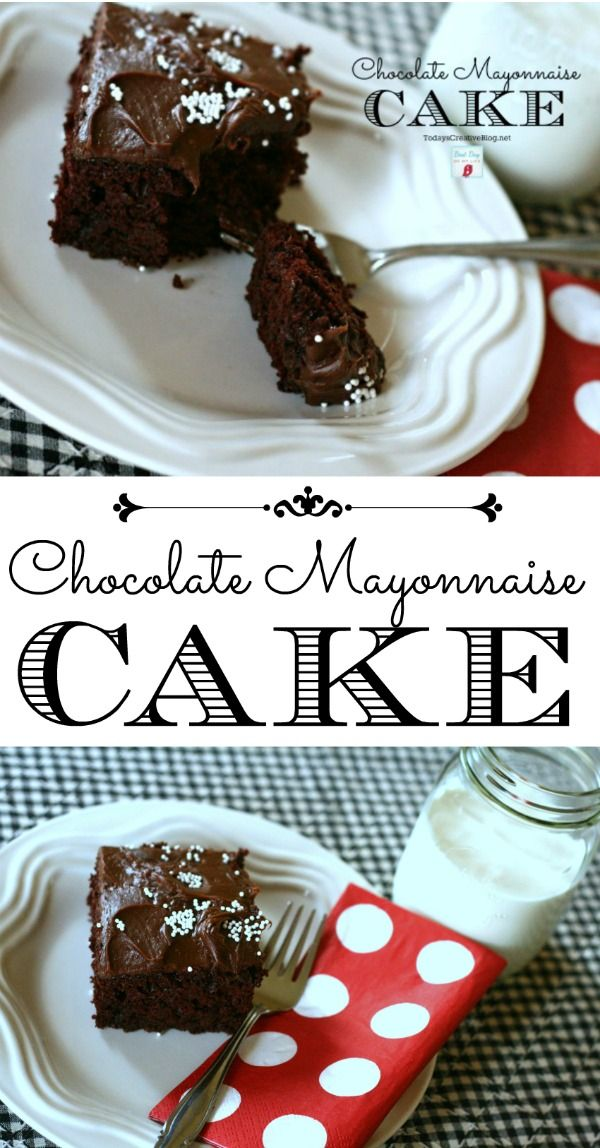 Chocolate Mayonnaise Cake Recipe | TodaysCreativeBlog.net