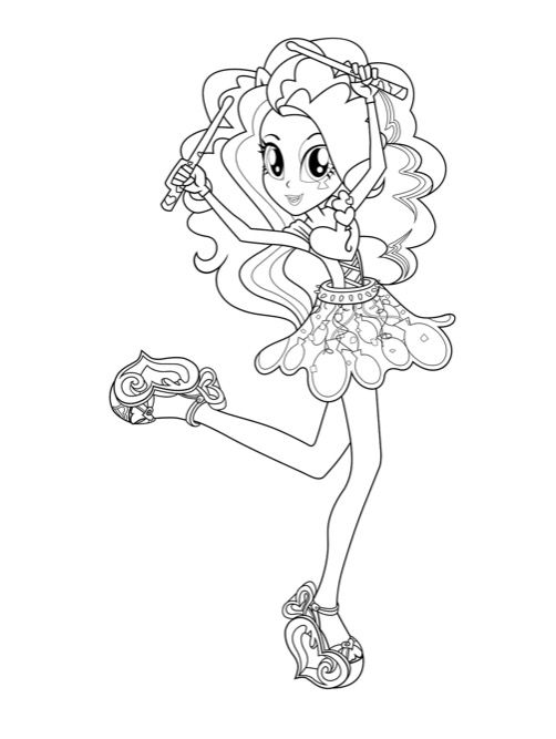 417 best My Little Pony Coloring Pages Printables images on - best of my little pony dazzlings coloring pages