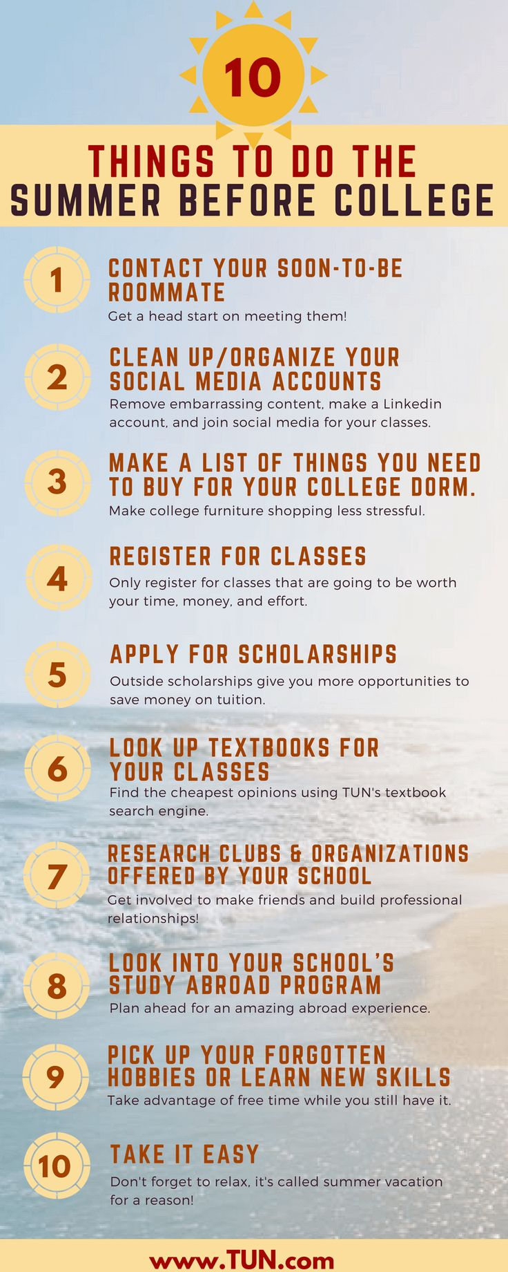 Tips For The Collegebound Freshmen: Do These 10 Things The Summer Before  College! Part 23