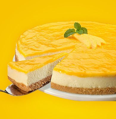 Passion Fruit Curd Cheesecake