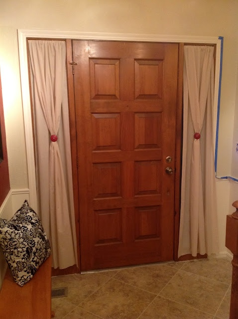 1000 ideas about sidelight curtains on pinterest front for Side door window coverings