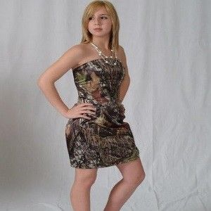 Fashionable Camo Homecoming Dresses
