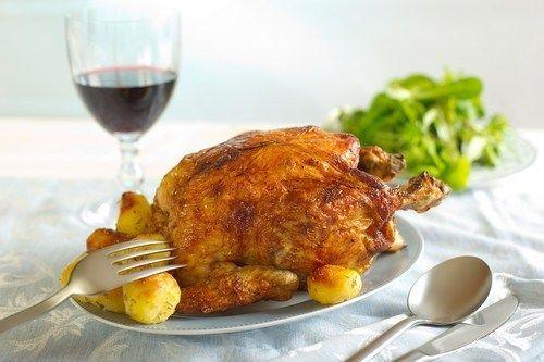 Курица с медом, горчицей и корицей