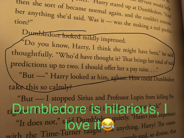 "Dumbledore ""that brings her total of real predictions up to two"" lol sassy Dumbledore"