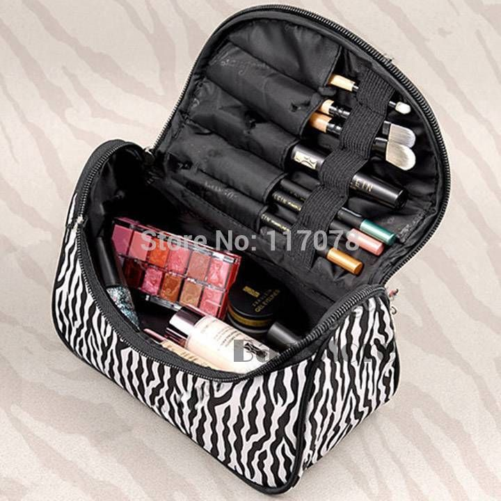 2014 New Cute Women's Lady Travel Makeup bag professional Cosmetic pouch Clutch Handbag Casual Purse SV005497