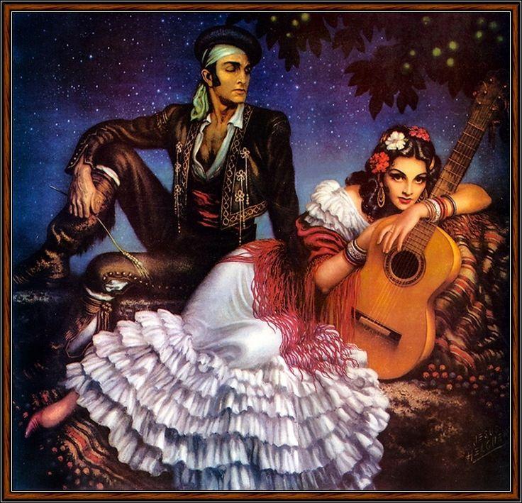 Pintor e ilustrador -Jesus Enrique Emilio de La Helguera Espinoza (México, 1910-1971)