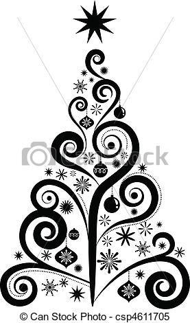 grafik, baum, weihnachten Vektor – Stock Illustration, Lizenzfreie Illustration,… – jenny bridoux