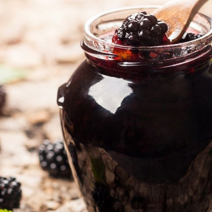 This blackberry jelly recipe makes a clear yummy jelly that you will enjoy year round.  Well at least until you run out!. Blackberry Jelly Recipe from Grandmothers Kitchen.