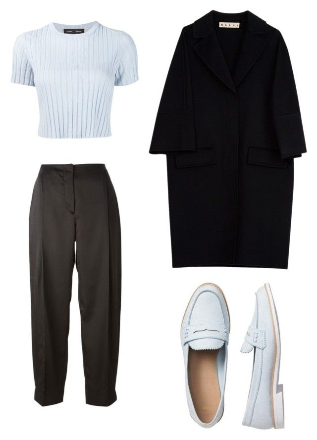 """noora style #skam"" by nataliamalecka ❤ liked on Polyvore featuring Cédric Charlier, Proenza Schouler, Gap and Marni"