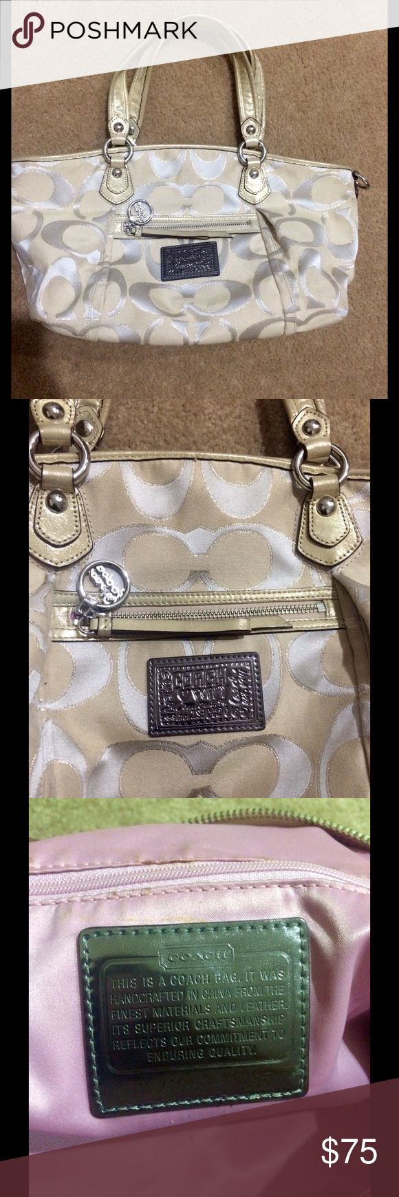 Khaki Gold Coach Poppy Purse Khaki Gold Coach Poppy Purse. Very good condition, same shape and structure from day one. Coach Accessories