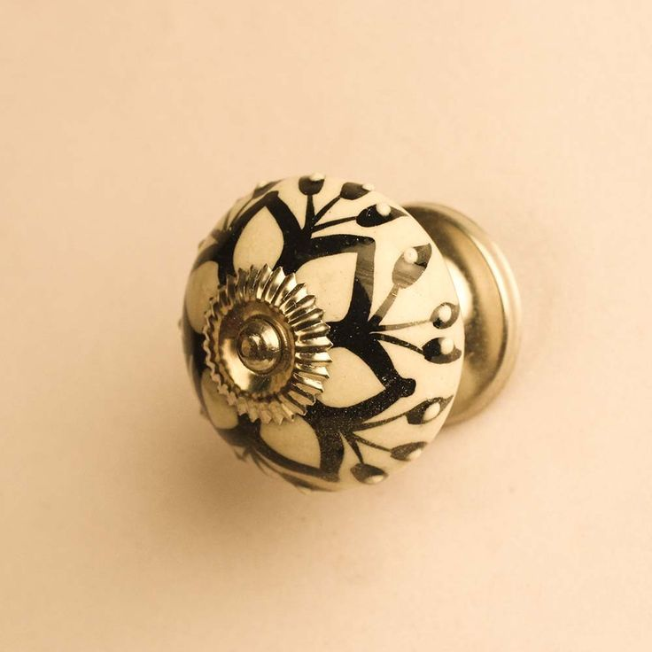 Are You Interested In Our Hand Painted Black And White Ceramic Door Knob By Casa  Decor? With Our Hand Painted Black Ceramic Furniture Knob Available At ...
