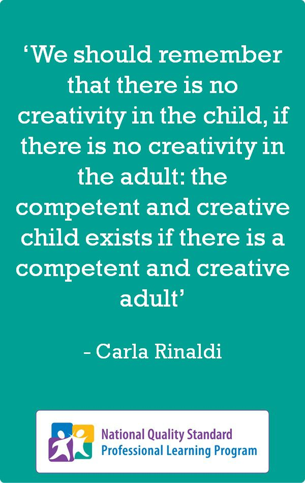 Excellent #Thinking Practice #Quote by Carla Rinaldi—'the competent and creative child exists'