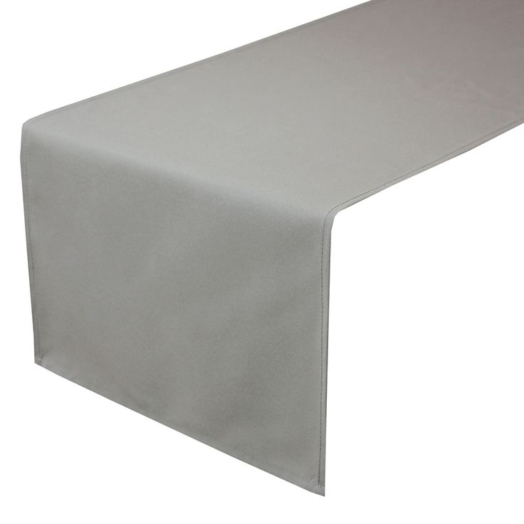 Discount Table Linen Rentals Part - 40: 14 X 108 Inches Gray Table Runner