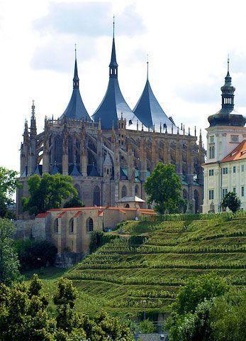 St. Barbara Cathedral, Kutna Hora, Czech Republic.