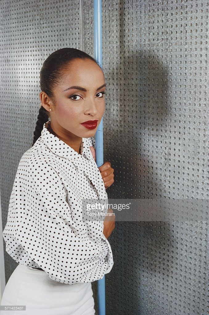 Portrait of Nigerian-born British musician Sade Adu, of the group Sade, mid to late 1980s.