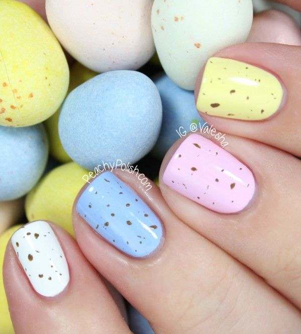 Mini Eggs Nails by Peachy Polish