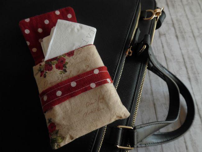 Porta fazzoletti in stoffa da borsetta | Hobby e Creatività
