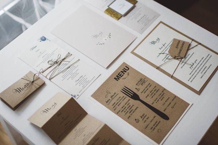 Wedding menu made by Cudowianki. / Wzory menu wykonane przez Cudowianki.