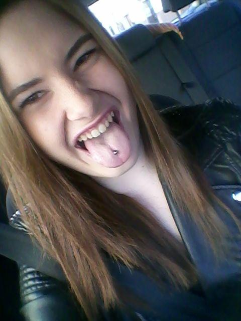 My Tongue Piercing So In Love Girl German Piercing Tongue