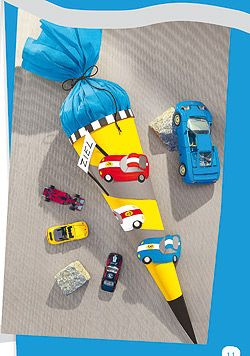 Auto- und Pony-Zuckertüte basteln - Familie.de