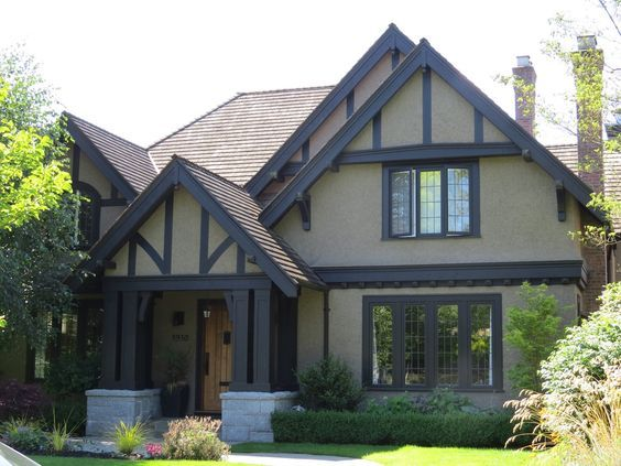 59 best brick tudors images on pinterest tudor homes - Tudor revival exterior paint colors ...
