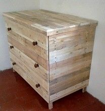 commode en bois de palette palette de bois pinterest pallet chest pallets and dressers
