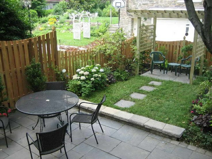 Ordinary Outdoor Landscape Ideas For Small Spaces Part - 2: Small Landscaping Ideas With Outdoor Furniture Sets And Pergola For Small  Yard