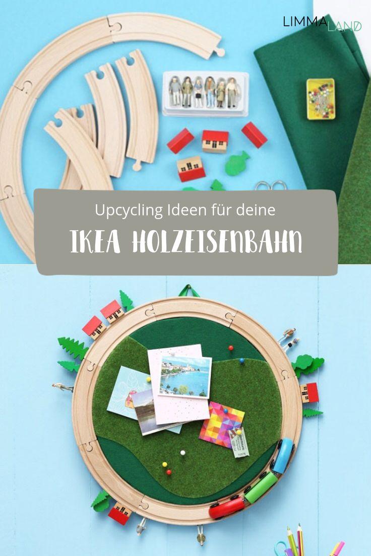 Ein Klassiker von IKEA mal ganz anders in Szene gesetzt! Die IKEA  Holzeisenbahn gibt es in vielen, vielen Haushalten und sie ist  sicherlich eins der beliebtesten Kinderspielzeuge. Ihr könnt sie aber  auch einmal ganz anders verwenden. Wir haben die schönsten Ideen in  einem Blogpost zusammengefasst. Viel Spaß beim Staunen über die tollen  Kreationen! www.limmaland.com #kinderzimmer #upcycling #holzeisenbahn  #limmaland