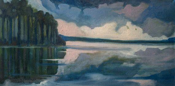 Moje Torfy My marshland  Original oil by PaintingThomasMrozow