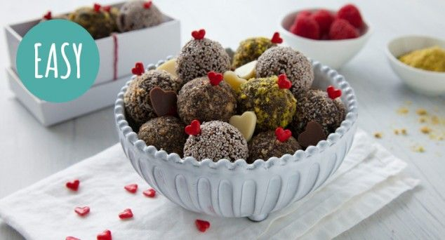 Win anyone over with these dangerously delicious Bliss Balls!  #dessert #chocolate #recipe