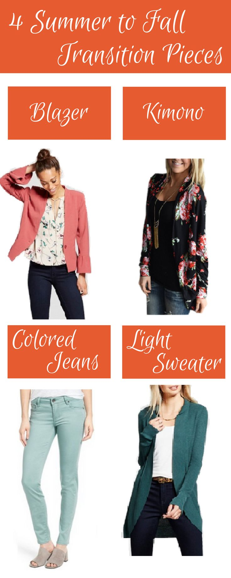 The weather is bipolar from summer to fall, here is my list of 4 must have transition pieces for this season.