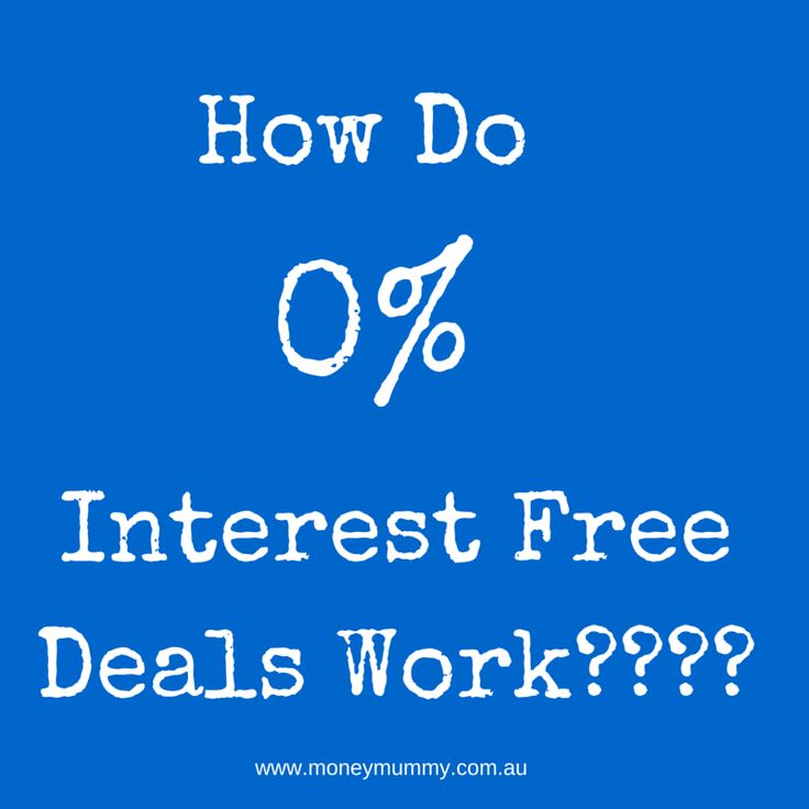 How those interest free deals work....
