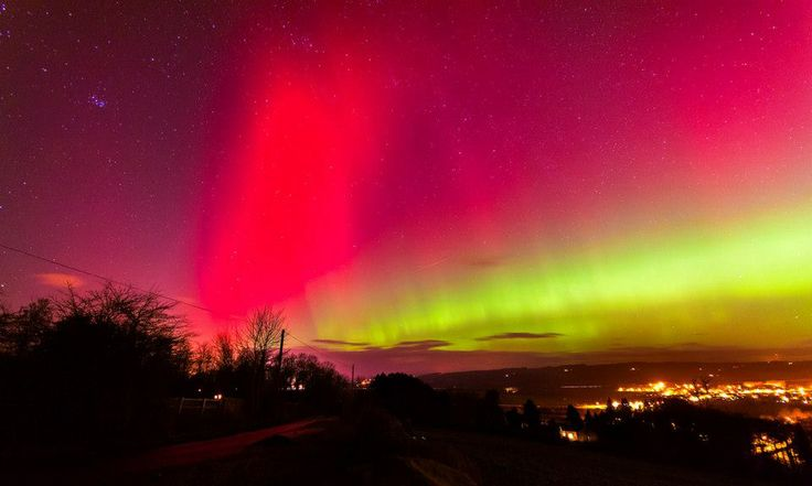 Northern Lights over Corbridge by John Logan. From the BBC Look North Facebook page: www.facebook.com/.