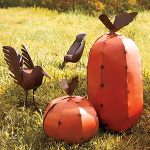 There won't be any pumpkin smashing this Halloween if you swap them with these pumpkins handcrafted from recycled scrap metal.