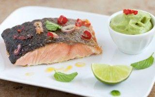 Filetto di salmone alla griglia con...