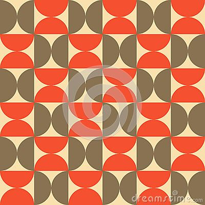 Half Circle Pattern Vector For Background, Wallpaper, Floor Design and Decoration
