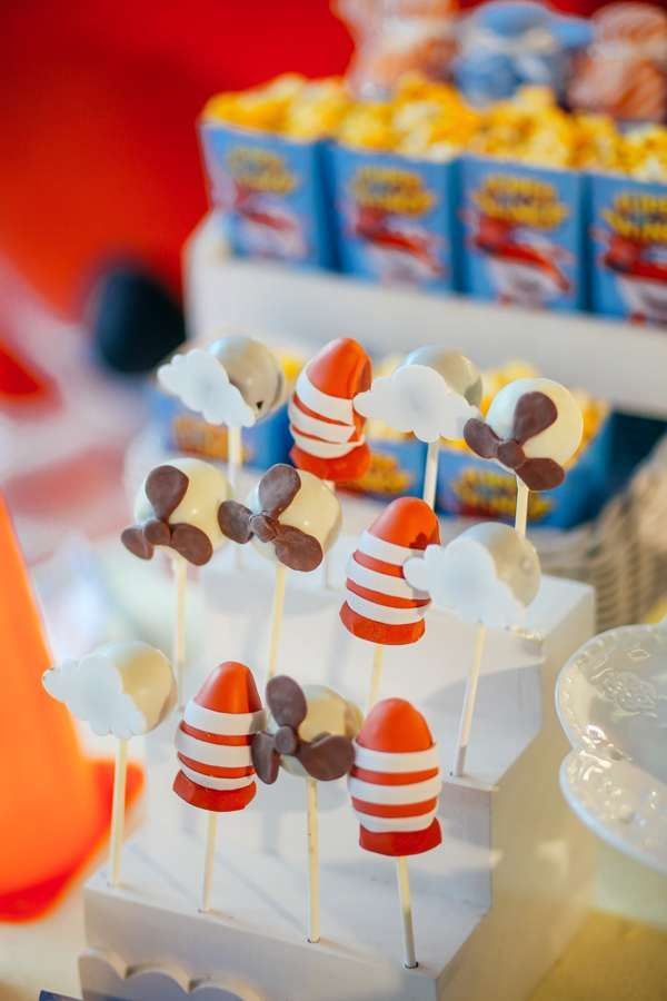 Airplanes Birthday Party Ideas Cake pop Birthdays and Birthday