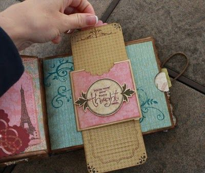 Gorgeous vintage paper bag album - full of pockets and interactive pages.: