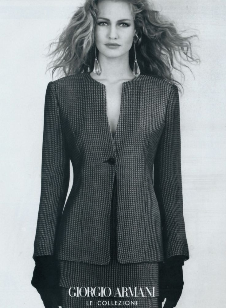 Karen Mulder for Giorgio Armani (early 90s)