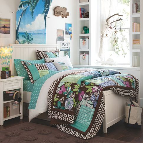 Lulu Surf Quilt Amp Sham Pbteen Girls Bedroom Furniture