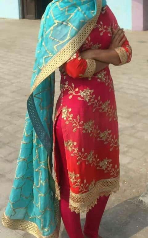 Beautifulcombation#indiantradational#punjabisuit