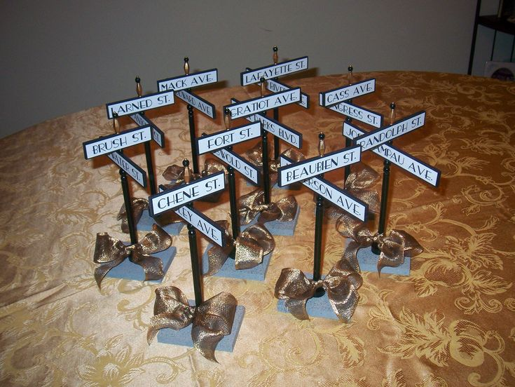 Street Signs As Table Numbers