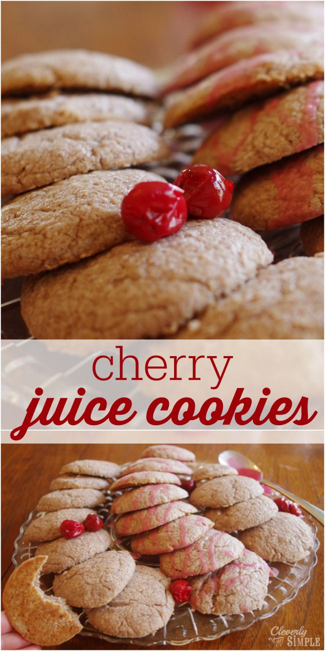 Cherry Juice Cookies made homemade!  The perfect cookie to entertain! - maybe not the healthiest but hey cherry juice is anti-inflammatory!