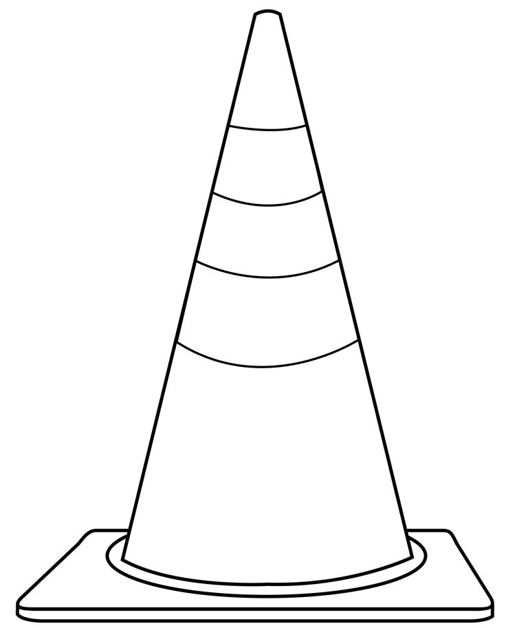 Traffic Cone Clip Art Black and