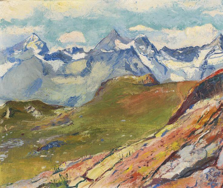 thunderstruck9:  Cuno Amiet (Swiss, 1868-1961), Riffelberg, 1944. Oil on canvas, 38 x 46 cm.