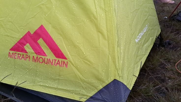 Weather proof tent.