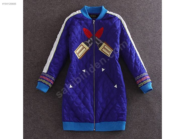 EUROPIAN STYLE BLUE and PURPLE LIPSTICK EMBROIDERED WOOLEN COAT - Spor Kadın Ceketleri sahibinden.com'da - 194126685