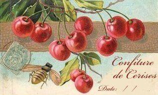 étiquette confiture de cerises   http://prunelle-et-bigoudi.fr/des-etiquettes