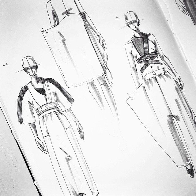 Fashion Sketchbook - fashion design drawings; fashion sketching // Justus